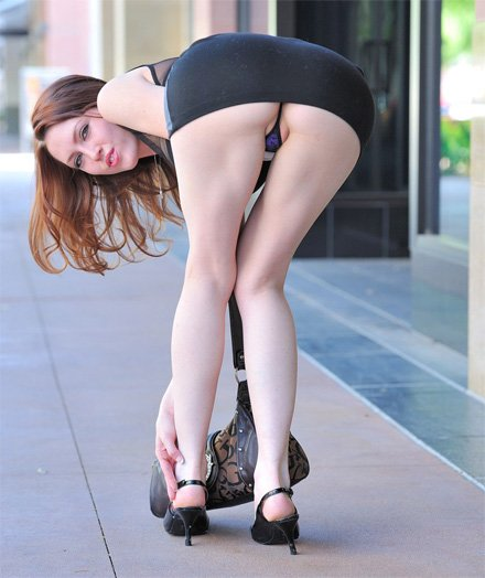 Dress bent over short